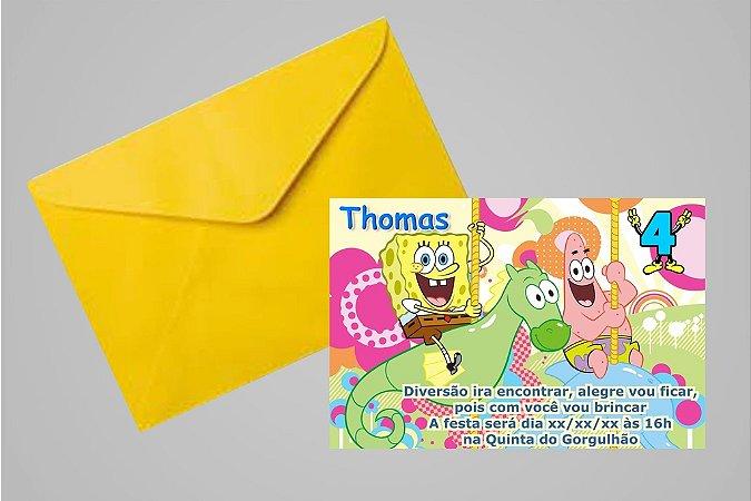 Convite 10x15 Bob Esponja 007
