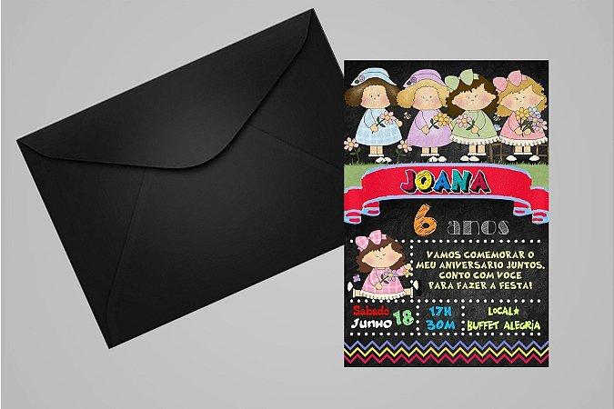 Convite 10x15 Bonecas 012