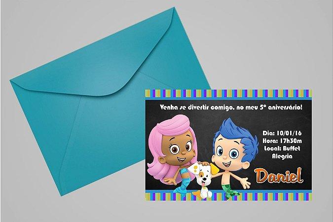 Convite 10x15 Bubble Guppies 001