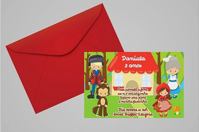 Convite 10x15 Chapeuzinho Vermelho 002