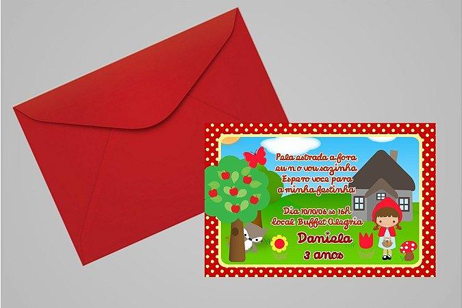 Convite 10x15 Chapeuzinho Vermelho 004