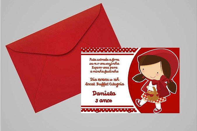 Convite 10x15 Chapeuzinho Vermelho 009