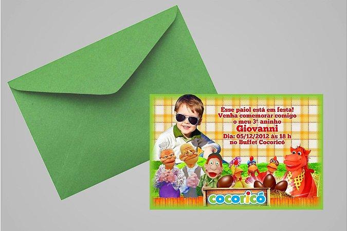 Convite 10x15 Cocoricó 001 com foto