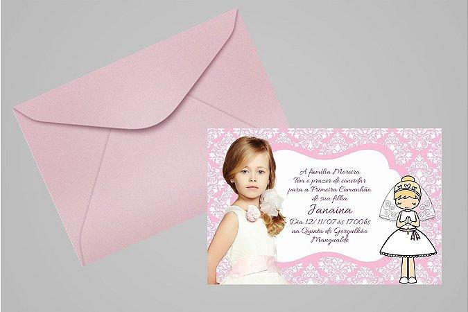 Convite ou foto lembrança 10x15 de Primeira Comunhão 016