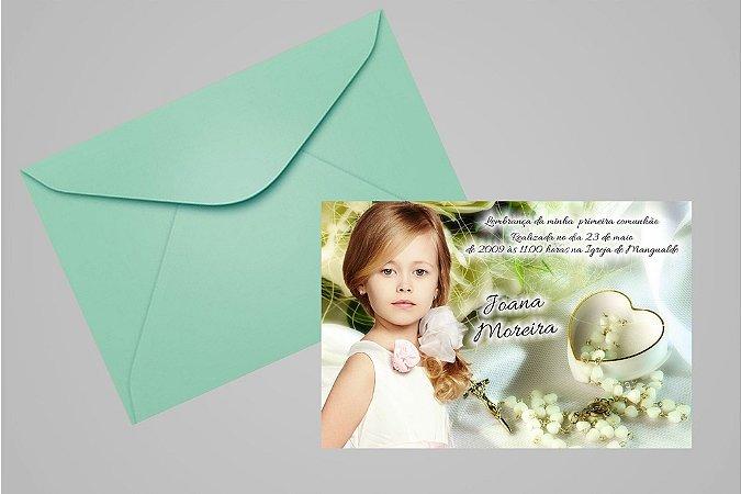 Convite ou foto lembrança 10x15 de Primeira Comunhão 044