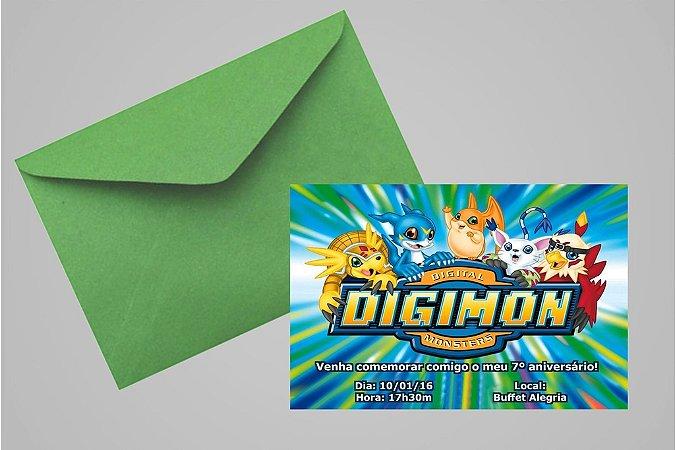 Convite 10x15 Digimons 003