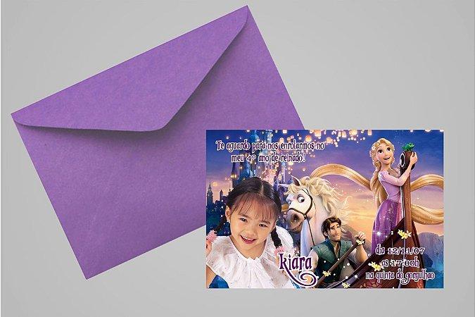 Convite 10x15 Enrolados 008 com foto