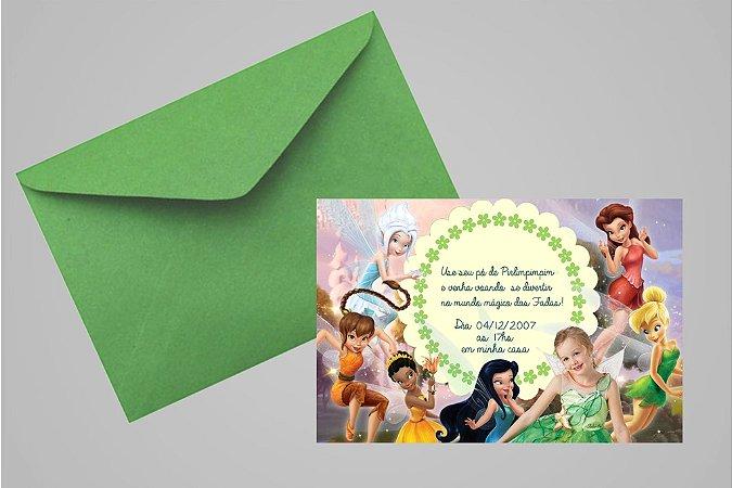 Convite 10x15 Fadas Disney 017 com foto