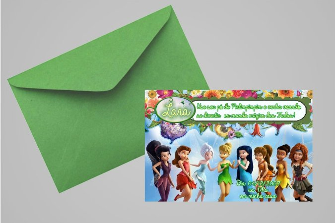 Convite 10x15 Fadas Disney 026
