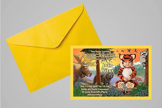 Convite 10x15 Floresta Encantada 005 com foto