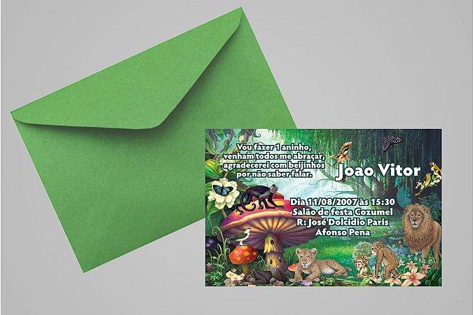 Convite 10x15 Floresta Encantada 006