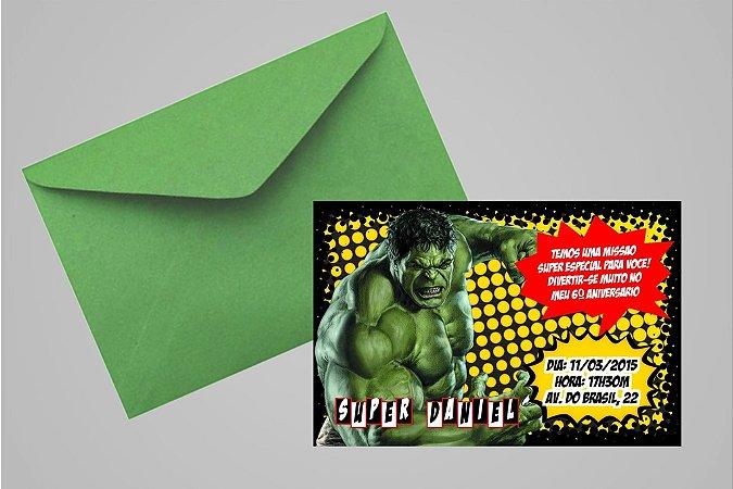 Convite 10x15 O Incrível Hulk 002