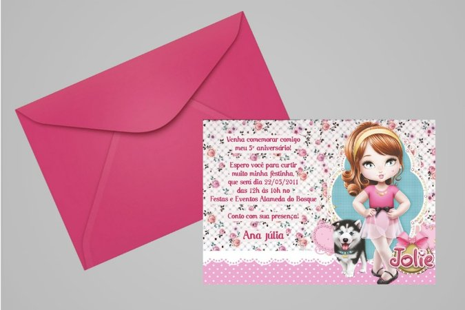 Convite 10x15 Jolie da Tilibra 001