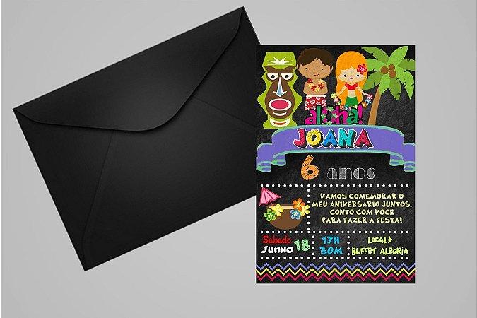 Convite 10x15 Luau 009