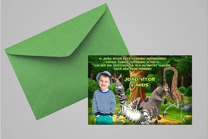 Convite 10x15 Madagáscar 018 com foto