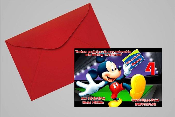 Convite 10x15 Mickey Mouse 005