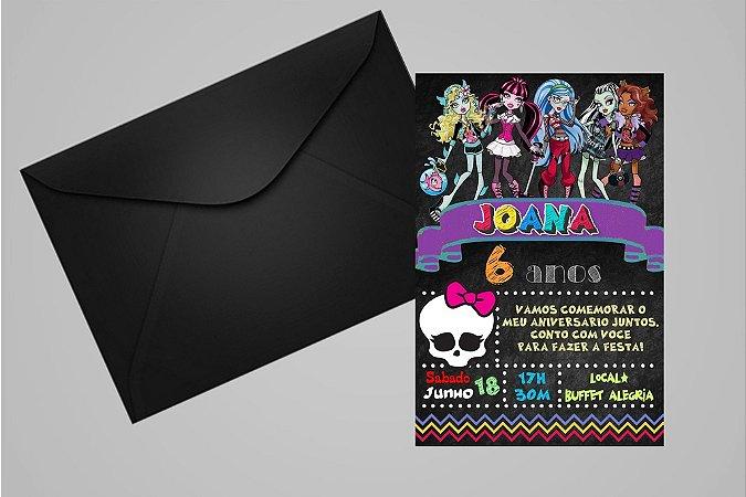 Convite 10x15 Monster High 006