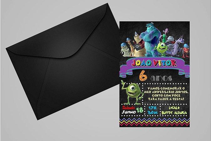 Convite 10x15 Monstros S.A. 005