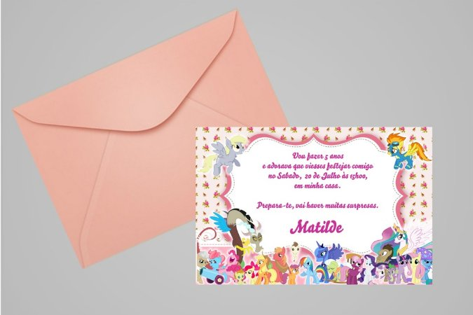 Convite 10x15 My Little Pony 012