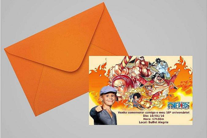 Convite 10x15 One Piece 001 com foto