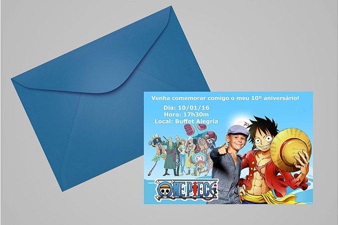 Convite 10x15 One Piece 003 com foto