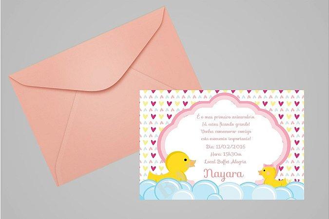 Convite 10x15 Patinho Amarelinho 002