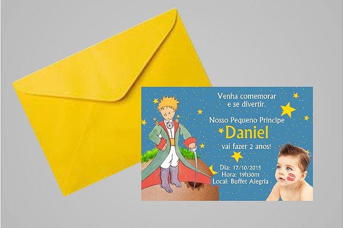 Convite 10x15 Pequeno Principe 005 com foto