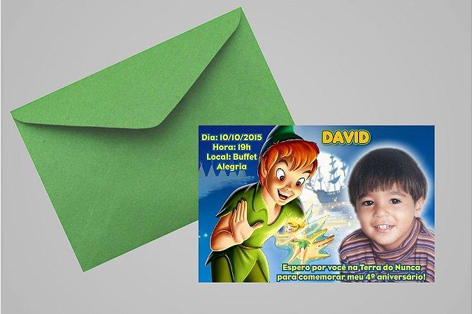 Convite 10x15 Peter Pan 002 com foto