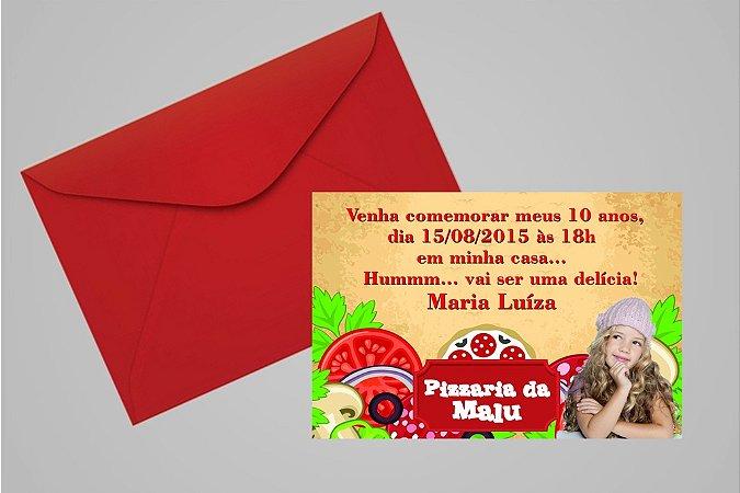 Convite 10x15 Pizza 001 com foto