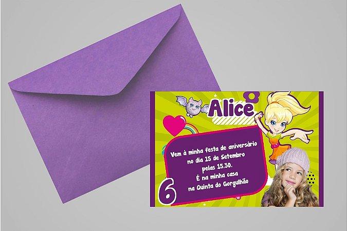 Convite 10x15 Polly 006 com foto