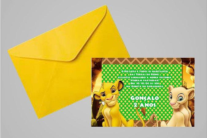 Convite 10x15 Rei Leão 005
