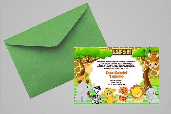Convite 10x15 Safari 001