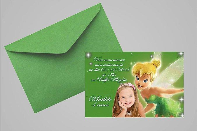 Convite 10x15 Sininho 001 com foto