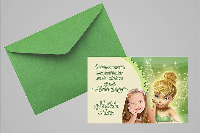 Convite 10x15 Sininho 020 com foto