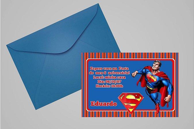 Convite 10x15 Super Homem 004