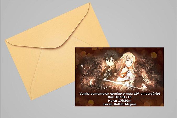 Convite 10x15 Sword Art Online 001
