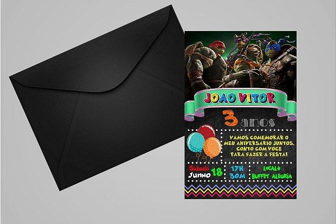 Convite 10x15 Tartarugas Ninja 009