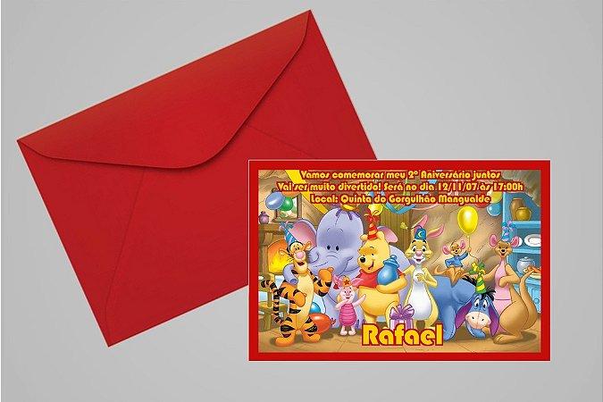 Convite 10x15 Ursinho Pooh -  Ursinho Puff 002