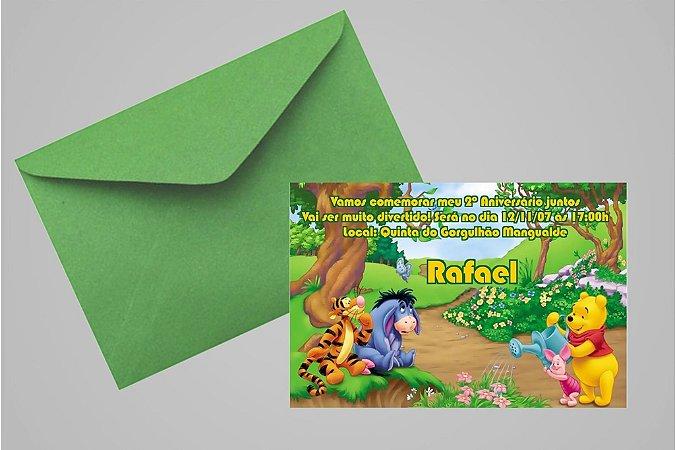 Convite 10x15 Ursinho Pooh -  Ursinho Puff 003
