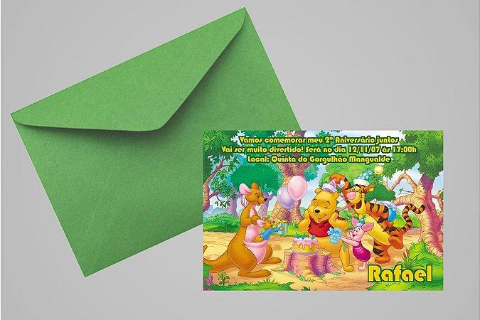 Convite 10x15 Ursinho Pooh -  Ursinho Puff 004