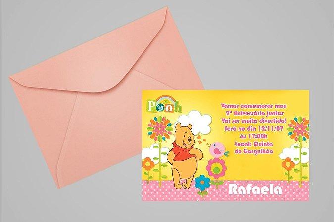 Convite 10x15 Ursinho Pooh -  Ursinho Puff 005