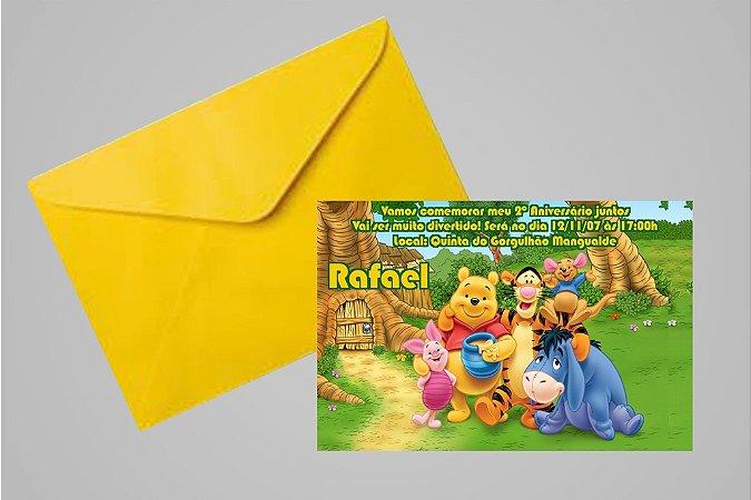 Convite 10x15 Ursinho Pooh -  Ursinho Puff 007