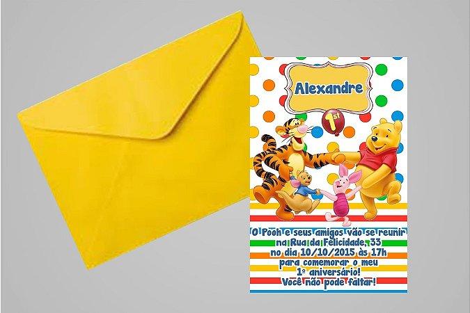 Convite 10x15 Ursinho Pooh -  Ursinho Puff 008