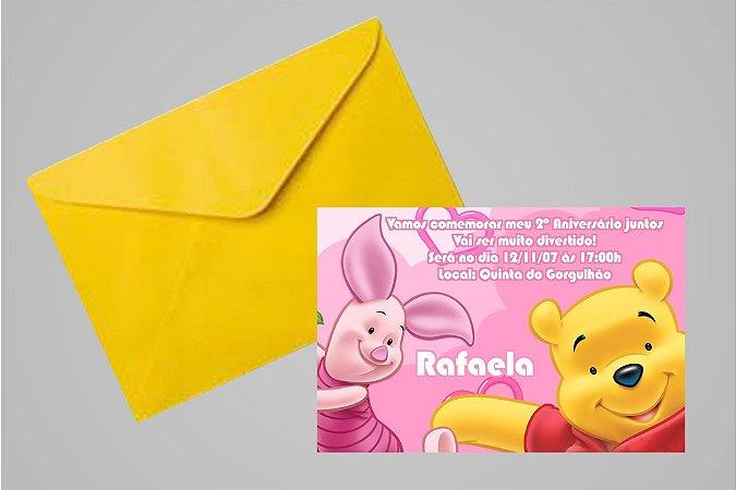 Convite 10x15 Ursinho Pooh -  Ursinho Puff 010
