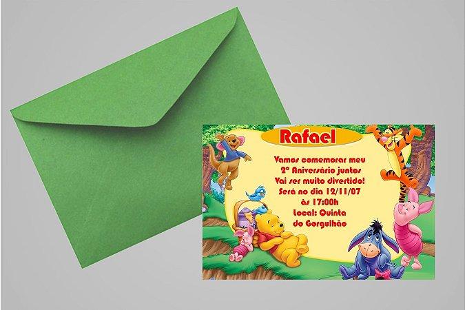 Convite 10x15 Ursinho Pooh -  Ursinho Puff 013