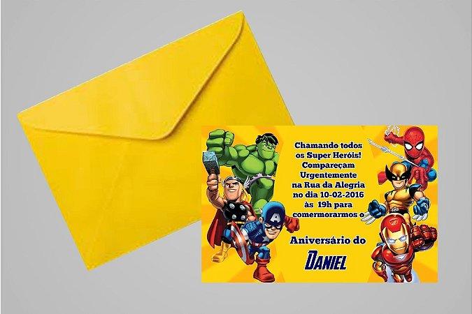 Convite 10x15 Vingadores 007
