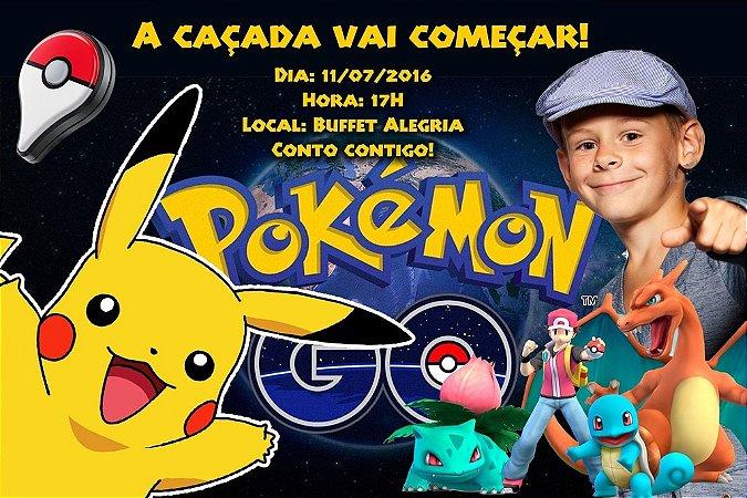 Convite digital personalizado Pokémon GO 011 com foto