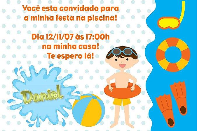 Convite digital personalizado Festa na Piscina 003