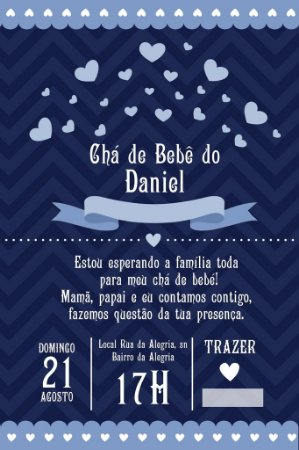 Convite digital personalizado para Chá de Bebê 048