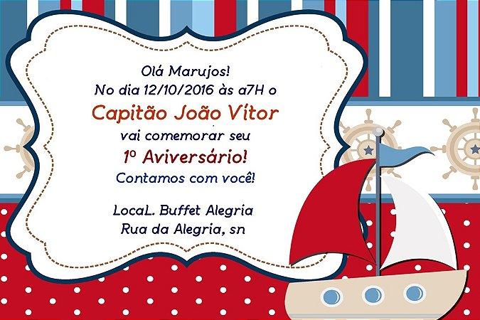 Convite digital personalizado Nautico 006